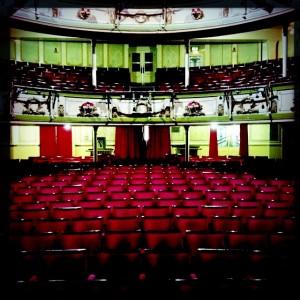 Brighton auditorium | Questionable colour scheme, brilliant crew.