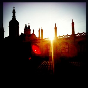 Autumn sunshine over Kings College Cambridge